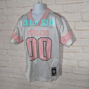Steelers jersey girls pink/white 7/8